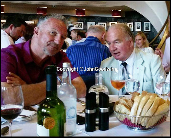 BNPS.co.uk (01202 558833)<br /> Pic JohnGoodwin/BNPS<br /> <br /> Fearnley (right) made bats for Ian Botham throughout his career.<br /> <br /> Legendary bat maker is selling up his historic collection of willow wonders.<br /> <br /> A collection of cricket bats that were used by some of finest players of all-time have been put up for sale by the man who crafted them with his own hands.<br /> <br /> Duncan Fearnley, 79, is best known for producing bats for legendary England all-rounder Ian Botham throughout his illustrious career.<br /> <br /> He also created hand-made blades for the likes of Viv Richards, Clive Lloyd and Indian hero Sunil Gavaskar, all featuring his famous 'three stump' logo.<br /> <br /> At the end of a season the bats were often donated back to him by generous players and he has now decided to part with a number of them.