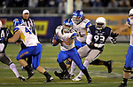 San Jose State's Jarrod Lawson runs against Nevada in an NCAA college football game in Reno, Nev., on Saturday, Nov. 16, 2013. (AP Photo/Cathleen Allison)