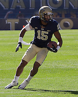 Pitt wide receiver Devin Street. The Louisville Cardinals defeated the Pitt Panthers 45-35 at Heinz Field, Pittsburgh PA on October 13, 2012.