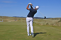 Christiaan Bezuidenhout (RSA) on the 1st tee during Round 1 of the Dubai Duty Free Irish Open at Ballyliffin Golf Club, Donegal on Thursday 5th July 2018.<br /> Picture:  Thos Caffrey / Golffile