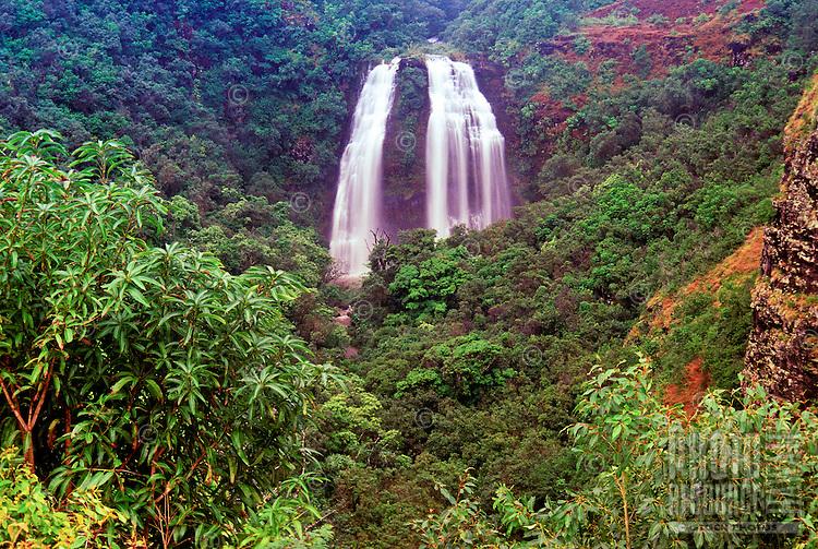 Opaekaa falls on the Island of Kauai
