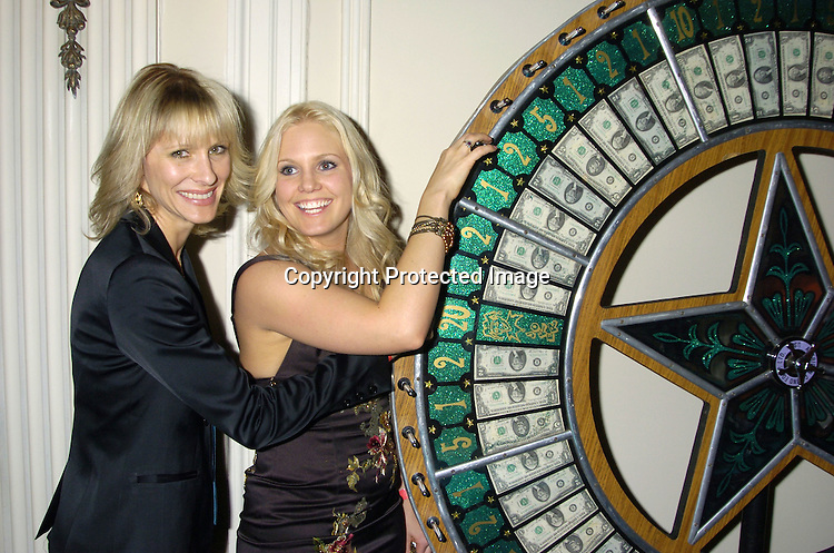 Kelley Menighan Hensley and Terri Colombino ..at The Black Tie and Blackjack Casino NIght in support of The Leukemia & Lymphoma Society at The Downtown Association on February 12, 2005. ..Photo by Robin Platzer, Twin Images