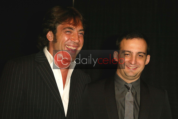 Javier Bardem and Alejandro Amenabar