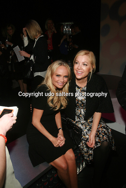 Actress Kristen Chenoweth and Guest Attend SIMON DOONAN PRESENTS THE DIET PEPSI STYLE STUDIO FASHION SHOW AT MERCEDES-BENZ FASHION WEEK, NY  2/9/12