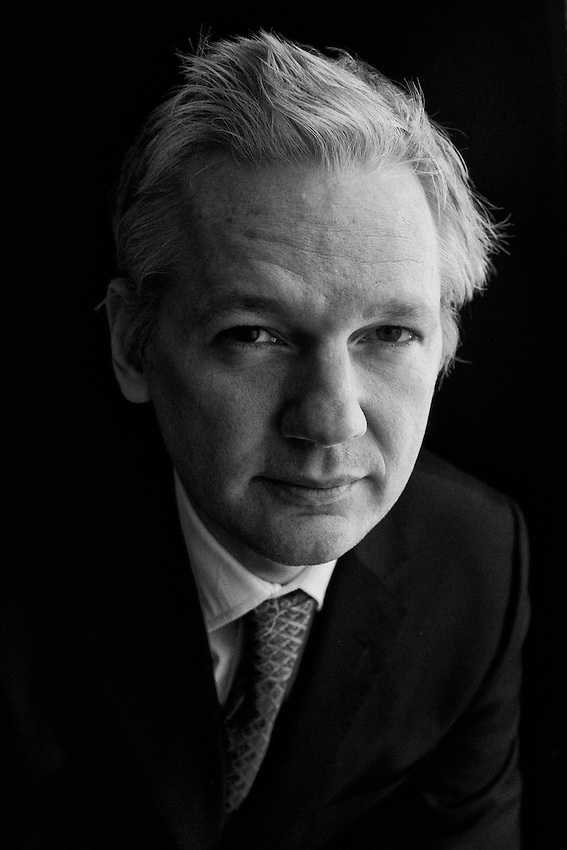 Julian Assange, founder of Wikileaks, the controversial website and organization that releases confidential documents.