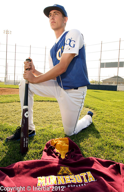 SIOUX FALLS, SD - APRIL 30: O'Gorman High School senior Connor Schaefbauer will be attending the University of Minnesota to play baseball this fall. (Photo by Dave Eggen/Inertia)