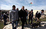 "Palestinian activists set up an ""outpost"" named Bab al-Shams (""gate of the sun"") in the Israeli-occupied West Bank , between Jerusalem and the Jewish settlement of Maale Adumim, in an area Israel said it would build thousands of new settler homes. Six weeks ago, Israel announced plans to build thousands of settler homes in the largely uninhabited E1 area, in a move which sparked a global outcry. E1 falls within Area C of the West Bank which is under full Israeli civilian and security control and where Palestinians find it almost impossible to obtain building permits on January 12, 2013. Photo by Issam Rimawi"