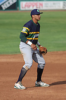 Beloit Snappers infielder Jose Brizuela (8) during a Midwest League game against the Wisconsin Timber Rattlers on May 30th, 2015 at Fox Cities Stadium in Appleton, Wisconsin. Wisconsin defeated Beloit 5-3 in the completion of a game originally started on May 29th before being suspended by rain with the score tied 3-3 in the sixth inning. (Brad Krause/Four Seam Images)