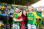 Luke Fitzell Margaret Horgan and Dougie Fitzell,  pictured at the senior Hurling replay Kilmoyley v Ballyduff, held in Austin Stack Park, Tralee on Saturday evening last.