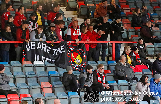 Wrexham 2 Ebbsfleet United 0, 18/11/2017. The Racecourse Ground, National League. Ebbsfleet fans. Photo by Paul Thompson.
