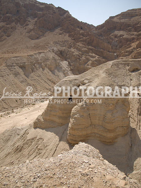 It is here in Qumran were the Dead Sea Scrolls Cave were found by a young shepherd.
