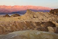 sunrise glow on Panamint Range, Zabriskie Point, Death Valley National Park