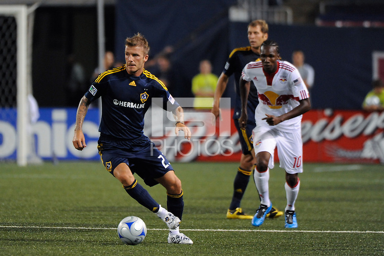 David Beckham (23) of the Los Angeles Galaxy. The Los Angeles Galaxy defeated the New York Red Bulls 3-1 during a Major League Soccer match at Giants Stadium in East Rutherford, NJ, on July 16, 2009.