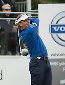 15.10.2014. The London Golf Club, Ash, England. The Volvo World Match Play Golf Championship.  Day 1 group stage matches.  Joost Luiten [NED]  tee shot on the first hole in his match against Mikko Ilonen [FIN].