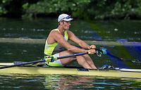 Henley Royal Regatta, Henley on Thames, Oxfordshire, 28 June - 2 July 2017.  Friday  09:26:53   30/06/2017  [Mandatory Credit/Intersport Images]<br /> <br /> Rowing, Henley Reach, Henley Royal Regatta.<br /> <br /> The Diamond Challenge Sculls<br />  J.H. Graves (Craftsbury Sculling Center, U.S.A.