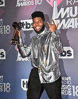 Khalid at the 2018 iHeartRadio Music Awards at The Forum, Los Angeles, USA 11 March 2018<br /> Picture: Paul Smith/Featureflash/SilverHub 0208 004 5359 sales@silverhubmedia.com
