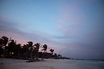 TULUM, MEXICO - APRIL 30, 2009: Tulum beach at dusk on April 30, 2009 in Tulum, Mexico.  (PHOTOGRAPH BY MICHAEL NAGLE)