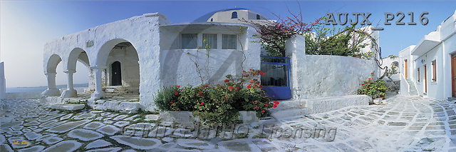 Dr. Xiong, LANDSCAPES, panoramic, photos, Church by the Seaside, Greece(AUJXP216,#L#)