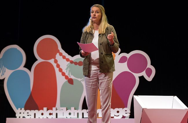 25 June, 2018, Kuala Lumpur, Malaysia : mabel Van Orange, Board Chair, speaking at the Opening Plenary session at the Girls Not Brides Global Meeting 2018 at the Kuala Lumpur Convention Centre. Picture by Graham Crouch/Girls Not Brides