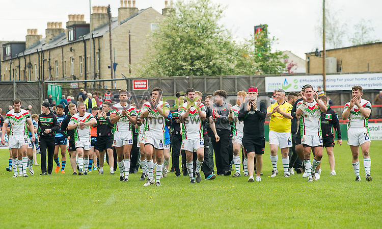 Picture by Allan McKenzie/SWpix.com - 10/05/2015 - Rugby League - Kingstone Press League 1 - Keighley Cougars v Coventry Bears - Cougar Park, Keighley, England - Keighley thank their fans for their support.