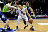 GRONINGEN - Basketbal, Donar - ZZ Leiden, Martiniplaza,  Dutch Basketball League, seizoen 2017-2018, 09-12-2017,  Donar speler Brandyn Curry met Leiden speler Carrington Love
