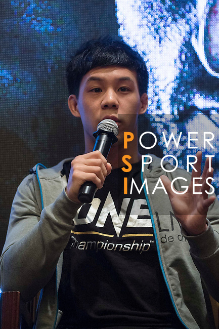Eddie Ng, fighter of One Championship - Heroes of the World talks and pose for photos during the press conference on 04 August 2016 held at Conrad Hotel, Hong Kong, China. Photo by Marcio Machado / Power Sport Images