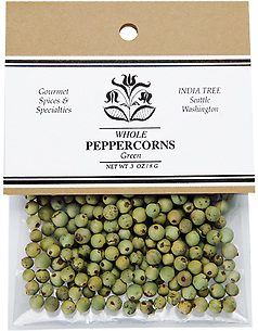 10122 Green Peppercorns, Caravan 0.3 oz, India Tree Storefront