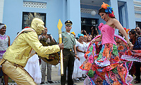 BARRANQUILLA -COLOMBIA-7-NOVIEMBRE-2014.La Alcaldesa  de Barranquilla,Elsa Noguera hizo entrega del decreto a la soberana de las carnestolendas del 2015 Cristina Felfle, en acto cumplido en la reciŽn remodelada Intendencia Fluvial. / The Mayor of Barranquilla , Elsa Noguera presented the sovereign decree of 2015 Cristina Felfle carnival in act performed in the newly renovated Intendencia Fluvial.  Photo: VizzorImage / Alfonso Cervantes / Stringer