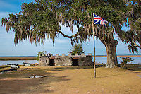 Fort Frederica National Monument, on St. Simons Island, Georgia, preserves the archaeological remnants of a fort and town built by James Oglethorpe between 1736 and 1748 to protect the southern boundary of the British colony of Georgia from Spanish raids. About 630 British troops were stationed at the fort.<br /> A town of up to 500 colonial residents had grown up outside the fort; it was laid out following principles of the Oglethorpe Plan for towns in the Georgia Colony. The town was named Frederica, after Frederick, Prince of Wales, son of King George II. The monument was listed on the National Register of Historic Places on October 15, 1966.