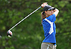 Ashley Harding of Kellenberg tees off on the 18th Hole of Eisenhower Park's Blue Course during the Nassau-Suffolk CHSAA girls golf championship on Tuesday, May 16, 2017.