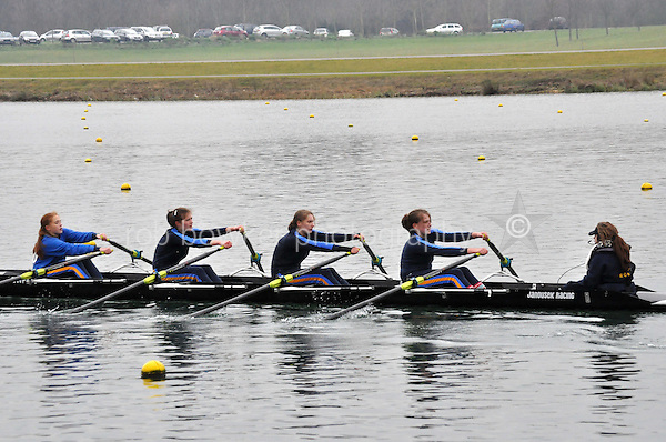 541 Sir W Perkins s Sch W.J13A.4x+..Marlow Regatta Committee Thames Valley Trial Head. 1900m at Dorney Lake/Eton College Rowing Centre, Dorney, Buckinghamshire. Sunday 29 January 2012. Run over three divisions.