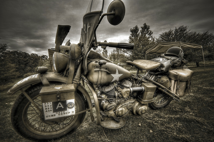 World War II USA forces motorcycle