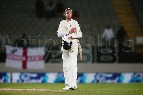26th March 2018, Eden Park, Auckland, New Zealand; International Test Cricket, New Zealand versus England, day 5;  Stuart Broad of England walks off dejected after losing the match