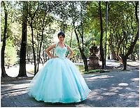 Quinceañera, sweet 15 in Chapultepec Park, Mexico City