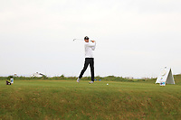 Hugh Foley (Royal Dublin) on the 1st tee during Round 1of the Flogas Irish Amateur Open Championship 2019 at the Co.Sligo Golf Club, Rosses Point, Sligo, Ireland. 16/05/19<br /> <br /> Picture: Thos Caffrey / Golffile<br /> <br /> All photos usage must carry mandatory copyright credit (© Golffile | Thos Caffrey)