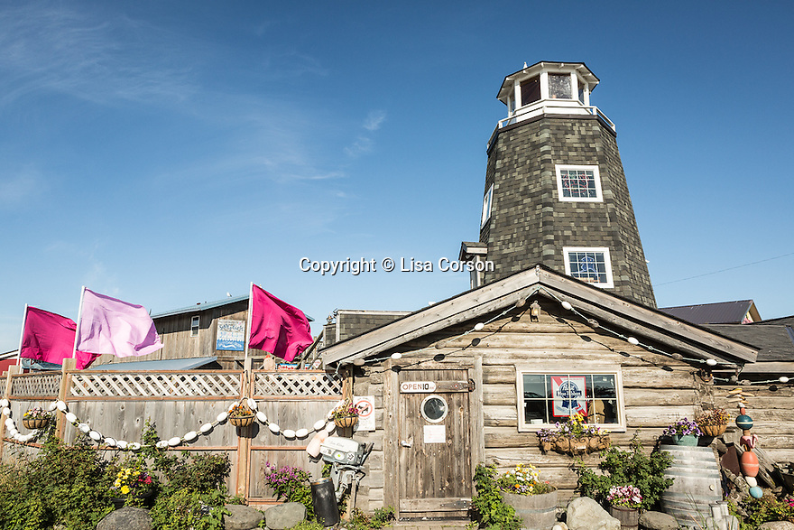 Salty Dawg Saloon on The Homer Spit. Homer, Alaska.