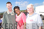 Pictured at the Churchill Heritage 60's day on Saturday, from left: Denis Flahive (The Spa), Abbey Cummings (The Spa) and Eamon Mulvihill (Churchill)..