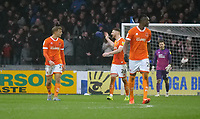 Blackpool's players look dejected after Bristol Rovers equalise. <br /> <br /> Photographer Ian Cook/CameraSport<br /> <br /> The EFL Sky Bet League One - Bristol Rovers v Blackpool - Saturday 15th February 2020 - Memorial Stadium - Bristol<br /> <br /> World Copyright © 2020 CameraSport. All rights reserved. 43 Linden Ave. Countesthorpe. Leicester. England. LE8 5PG - Tel: +44 (0) 116 277 4147 - admin@camerasport.com - www.camerasport.com