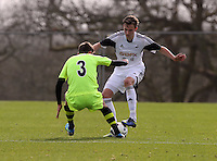 Pictured: Tuesday 04 March 2014<br /> Re: Under 21 friendly Swansea City FC v Yeovil at Fairwood Common Training Ground, south Wales.