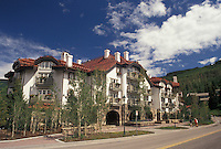 hotel, lodging, Vail, CO, Colorado, Sonnenalp Resort of Vail, a Bavarian Haus, in the resort town of Vail in the summer.