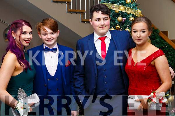 Attending the Mercy Mounthawk Debs at the Ballyroe Heights Hotel on Thursday night last, l-r, Aoife O'Mahoney, Jordan Tearle, Greg Murphy and Leanne Savage.