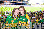 Joanne Finnegan and Katie Rogers Tralee Supporting Kerry at Croke park on Sunday.