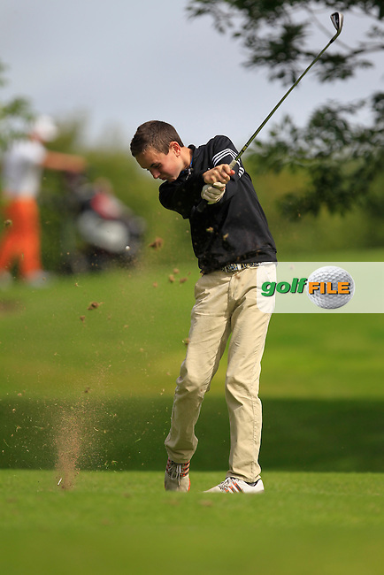 Enda Kennedy (Black Bush) on the 11th tee during the Irish Boys Under 15 Amateur Open Championship Round 2 at the West Waterford Golf Club on Wednesday 21st August 2013 <br /> Picture:  Thos Caffrey/ www.golffile.ie