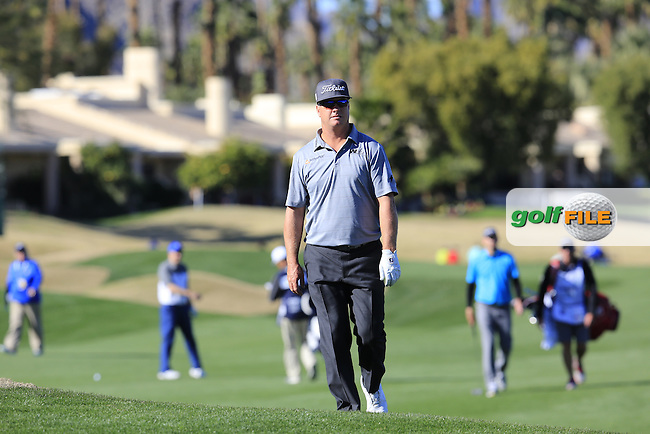 Charley Hoffman (USA) at the 18th green during Saturday's Round 3 of the 2017 CareerBuilder Challenge held at PGA West, La Quinta, Palm Springs, California, USA.<br /> 21st January 2017.<br /> Picture: Eoin Clarke | Golffile<br /> <br /> <br /> All photos usage must carry mandatory copyright credit (&copy; Golffile | Eoin Clarke)