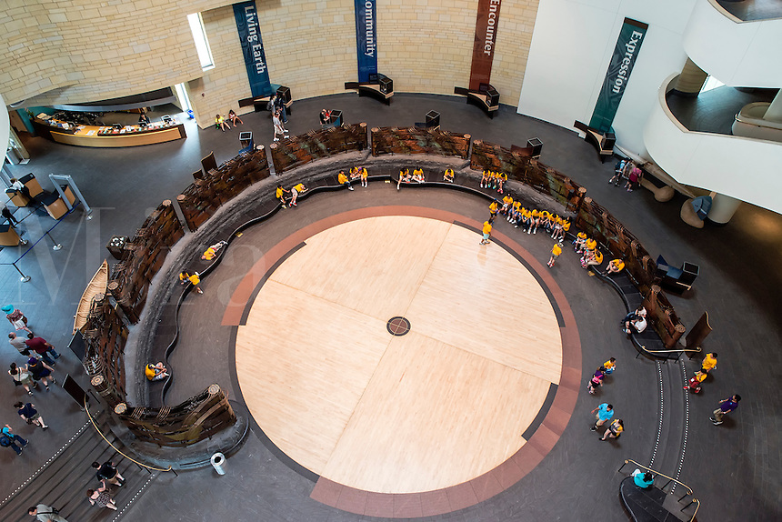 Dance circle, The National Museum of the American Indian, Washington DC, USA