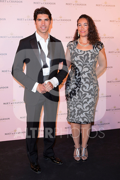 """Cayetano Rivera and Tamara García (CEO of Moet Spain) attends the """"Moon Night Party"""" of Moët & Chandon at Casino in Madrid, Spain. September 17, 2014. (ALTERPHOTOS/Carlos Dafonte)"""