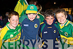Conor McCarthy, Bill O'Sullivan, Michael Pierce and Shane O'Connor Killarney at the Kerry team homecoming in Killarney on Monday.