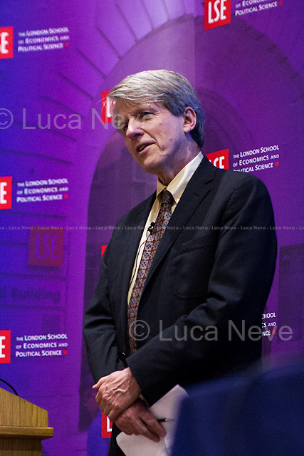 Robert J. Shiller.<br /> <br /> London, 11/11/2015. Today, LSE presented a public lecture - part of the Department of Economics and Centre for Macroeconomics public lecture - called &quot;Phishing for Phools: the economics of manipulation and deception&quot; hosted by the author of the homonymous book (written with George A. Akerlof), Robert J. Shiller (American Nobel Laureate, economist, academic &amp; author; he currently Sterling Professor of Economics at Yale University &amp; he is a fellow at the Yale School of Management's International Center for Finance; he has been a research associate of the National Bureau of Economic Research, NBER, since 1980; he is ranked among the 100 most influential economists of the world; Eugene Fama, Lars Peter Hansen &amp; Shiller jointly received the 2013 Nobel Memorial Prize in Economic Sciences, &quot;for their empirical analysis of asset prices&quot;). Chair of the event was Wouter Den Haan (Professor of Economics at LSE &amp; Co-Director of the Centre for Macroeconomics). From the event online page: &lt;&lt;Ever since Adam Smith, the central teaching of economics has been that free markets provide us with material well-being, as if by an invisible hand. Robert Shiller delivers a fundamental challenge to this insight, arguing that markets harm as well as help us. As long as there is profit to be made, sellers will systematically exploit our psychological weaknesses and our ignorance through manipulation and deception. Rather than being essentially benign and always creating the greater good, markets are inherently filled with tricks and traps and will &quot;phish&quot; us as &quot;phools.&quot; This represents a radically new direction in economics, [&hellip;] It thereby explains a paradox: why, at a time when we are better off than ever before in history, all too many of us are leading lives of quiet desperation. [&hellip;]&gt;&gt;. (http://bit.ly/1WVMGN7)<br /> <br /> Here there is the link to podcast and video of the lect
