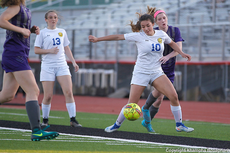 Boswell girls play Denton and Boswell boys play Denton Ryan in 5A bi-district soccer in Argyle on Thursday, March 23, 2017.