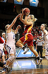 SIOUX FALLS MARCH 22:  Paige Lungwitz #10 from Pittsburg State shoots a runner over Taylor Lutz #10 from Grand Valley State during their quarterfinal game at the NCAA Women's Division II Elite 8 Tournament at the Sanford Pentagon in Sioux Falls, S.D. (Photo by Dave Eggen/Inertia)